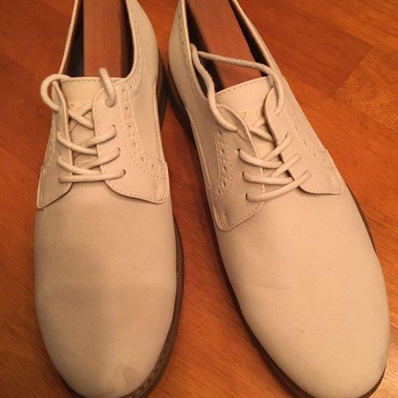 Shoes: White Bucks